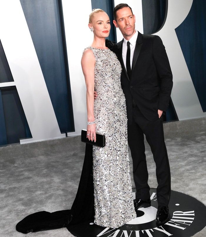 Kate Bosworth and Michael Polish arriving for the 2020 Vanity Fair Oscar Party Hosted By Radhika Jones