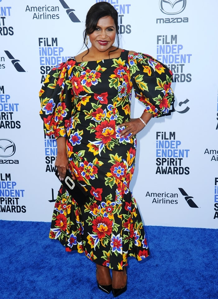 Mindy Kaling was one of the presenters at the 2020 Film Independent Spirit Awards