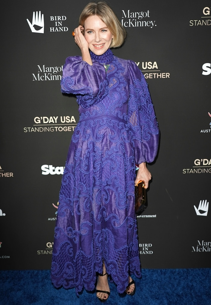 Naomi Watts attends the G'Day USA 2020 | Standing Together Dinner