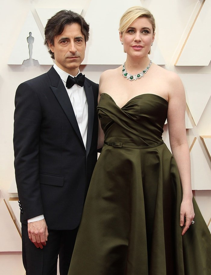Noah Baumbach looks handsome in Dior tuxedo as he poses alongside his partner Greta