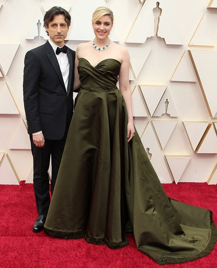 Noah Baumbach and Greta Gerwig at the 92nd Annual Academy Awards in Los Angeles on December 9, 2020