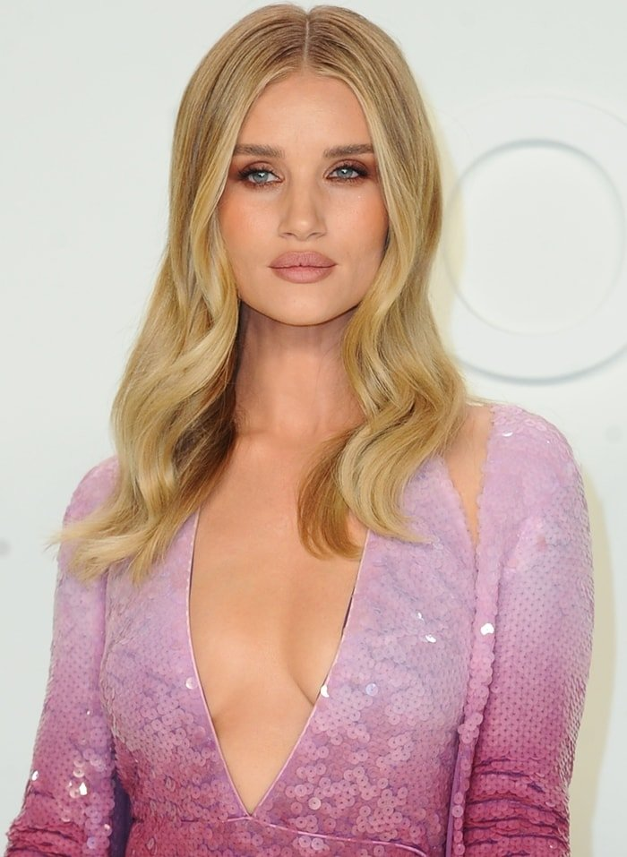 Rosie Huntington-Whiteley at the Tom Ford AW20 Show at Milk Studios in Hollywood