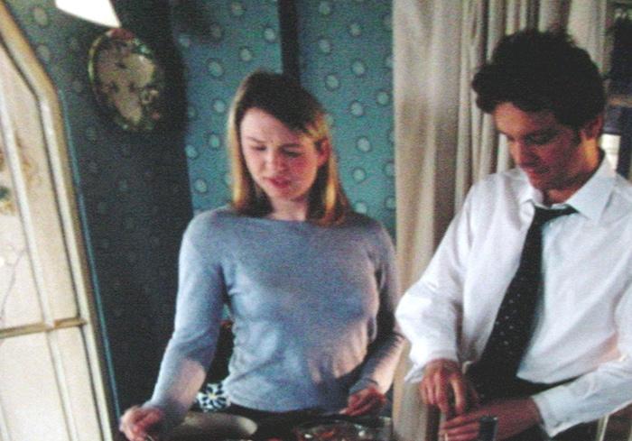 A screen grab from the movie Bridget Jones Diary starring Renee Zellweger and Hugh Grant