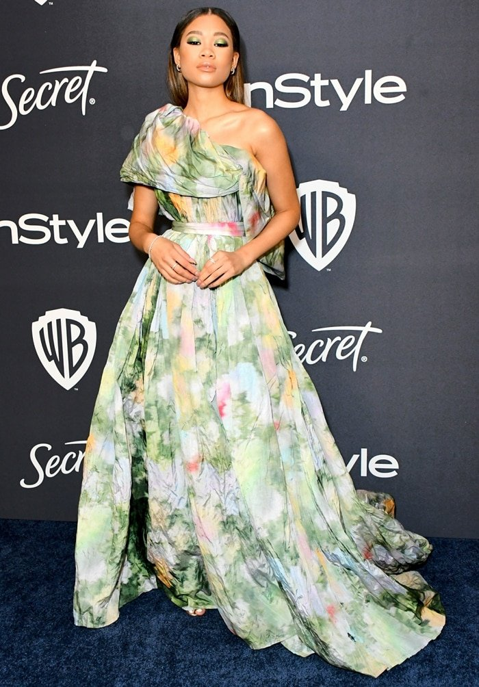 Storm Reid attends the 21st Annual Warner Bros. And InStyle Golden Globe After Party