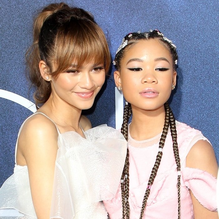 Storm Reid and Zendaya play sisters in Euphoria but are not related