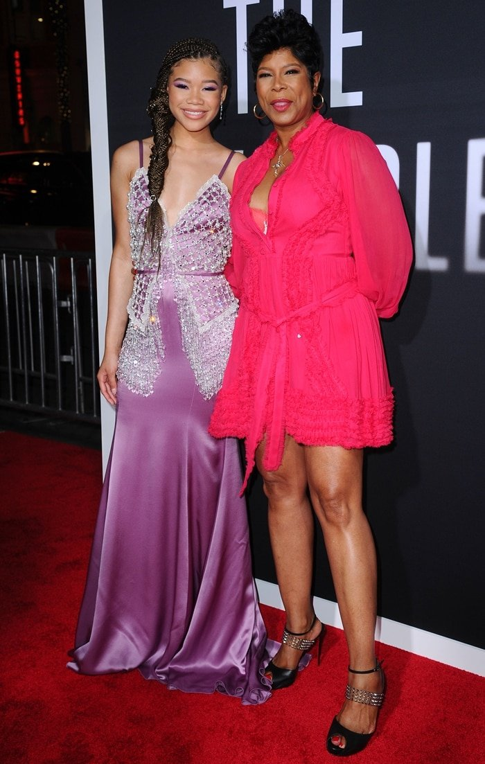 Robyn Reid and her daughter Storm Reid at the Premiere of Universal Pictures' The Invisible Man