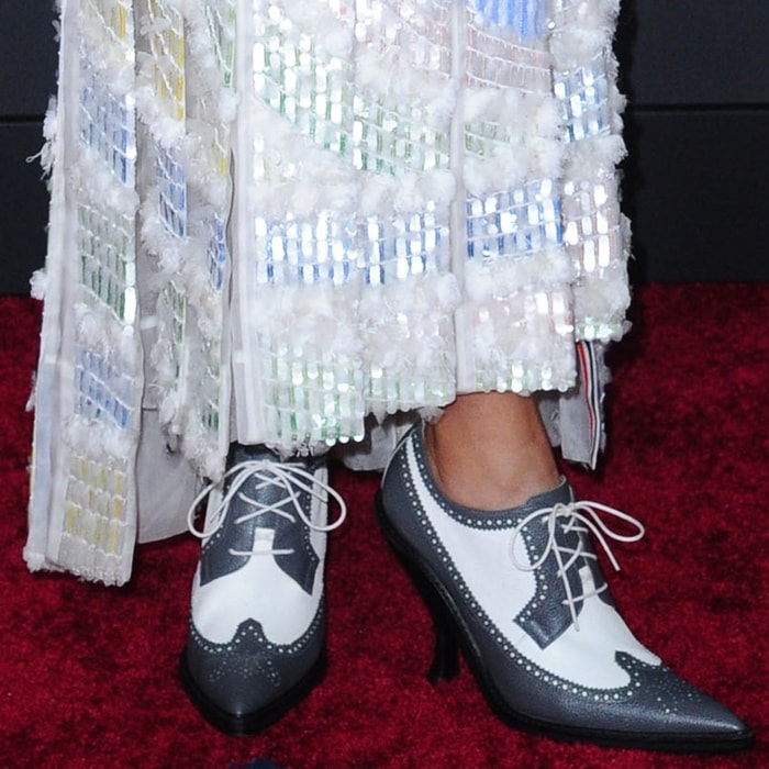 Storm Reid could not have picked a less flattering pair of shoes