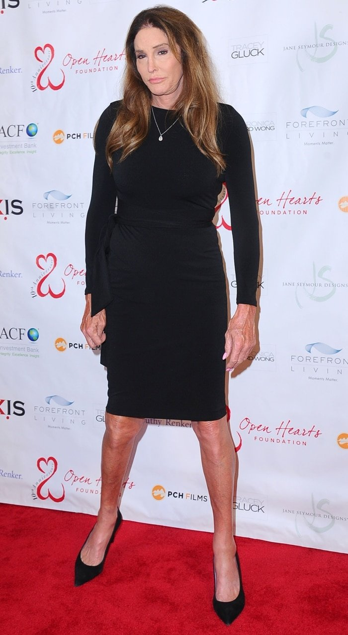 TV personality Caitlyn Jenner attends the Open Hearts Foundation 10th Anniversary Gala at SLS Hotel