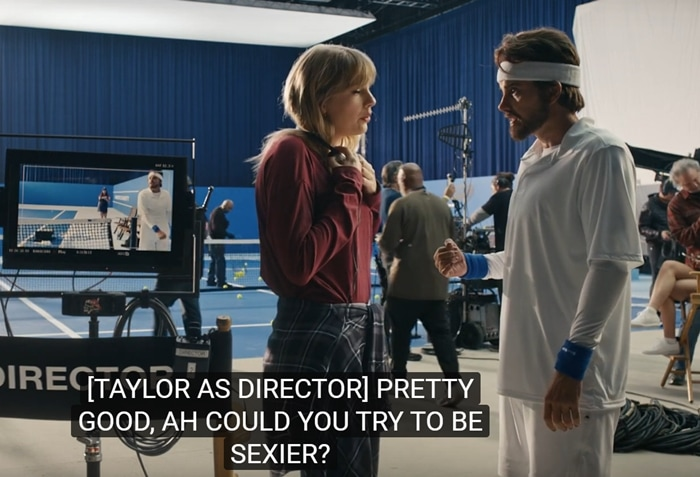 """Voiced by Dwayne The Rock Johnson, Swift asks her """"man"""" character Could you try to be sexier? Maybe more likable this time?"""