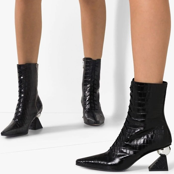 Black Yuul Yie Gloria Glam Heel Boots