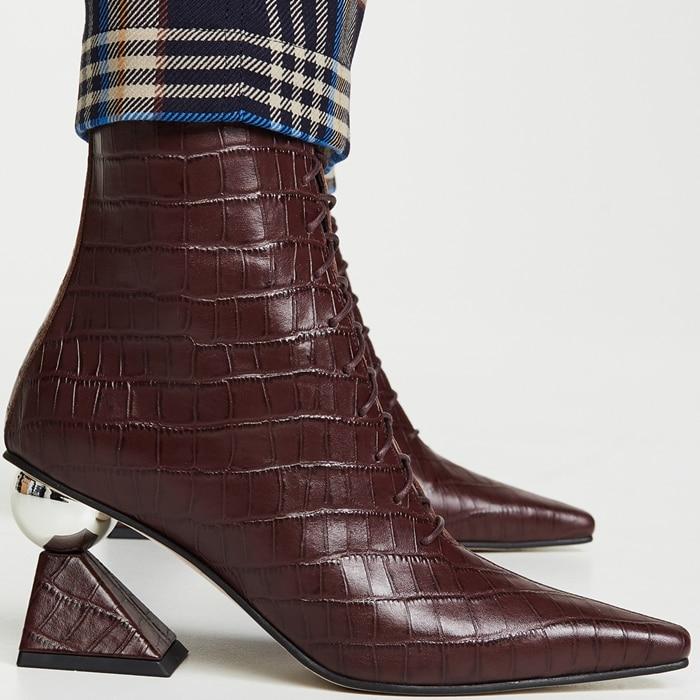 Burgundy Yuul Yie Gloria Glam Heel Boots