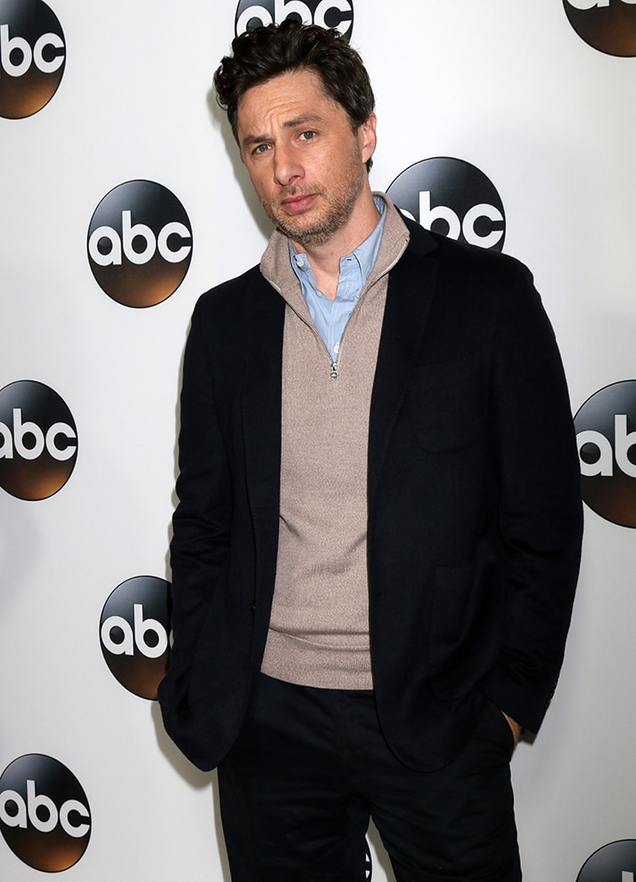 Zach Braff at the ABC TCA Winter 2018 Party in California on January 9, 2018