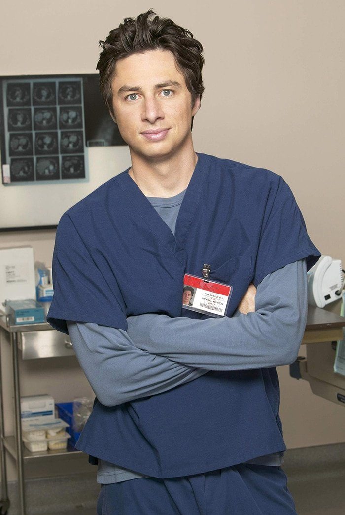 Zach Braff a.k.a. Dr. John 'J.D.' Dorian on Scrubs series