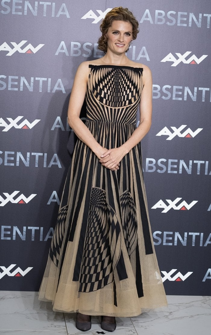 Actress Stana Katic attends the 'Absentia' premiere at Beatriz building