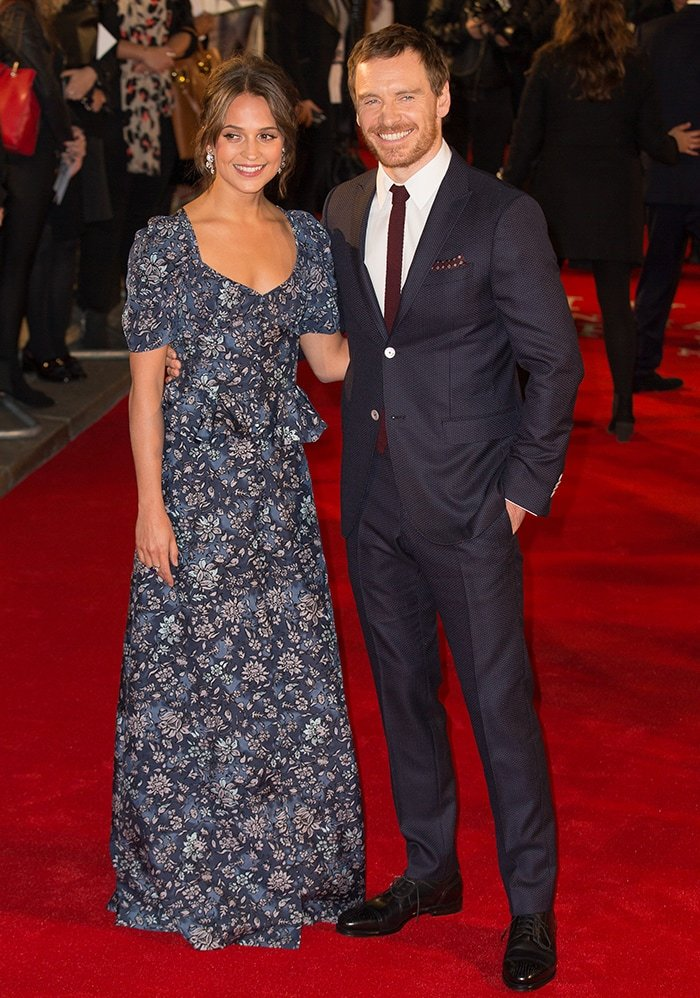 Alicia Vikander and Michael Fassbender at the UK Premiere of The Light Between Oceans on October 19, 2016