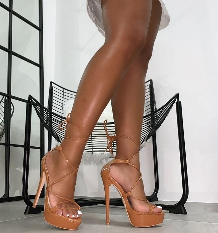 Bethany Platform Lace-Up Heels