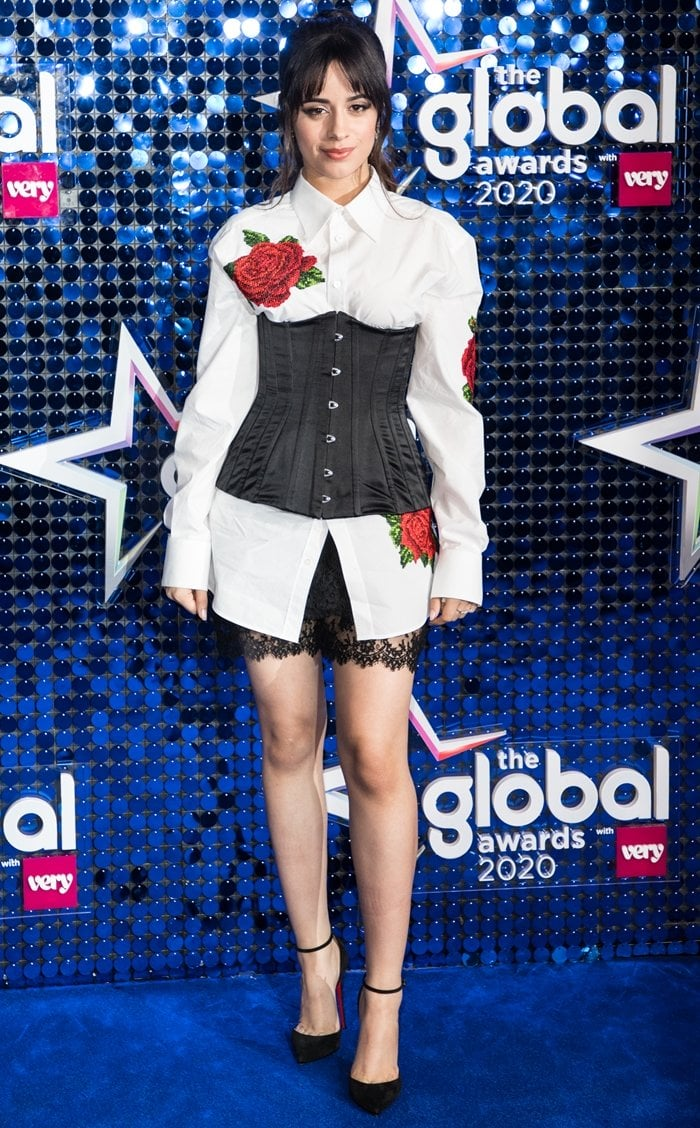 Camila Cabello flaunts her sexy legs at The Global Awards 2020