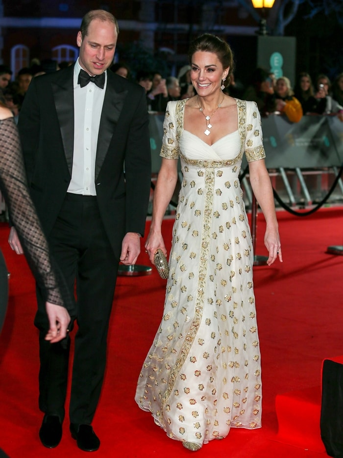 Catherine, Duchess of Cambridge and Prince William, Duke of Cambridge attend the EE British Academy Film Awards