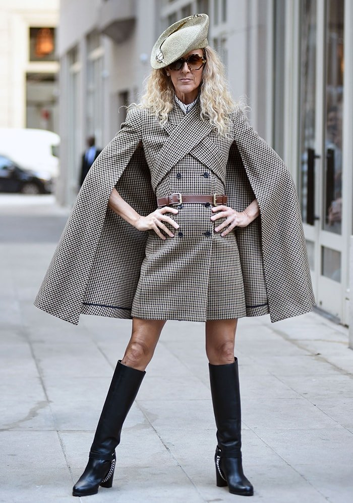 Celine Dion shows off her sartorial prowess in Michael Kors cape dress on March 5, 2020