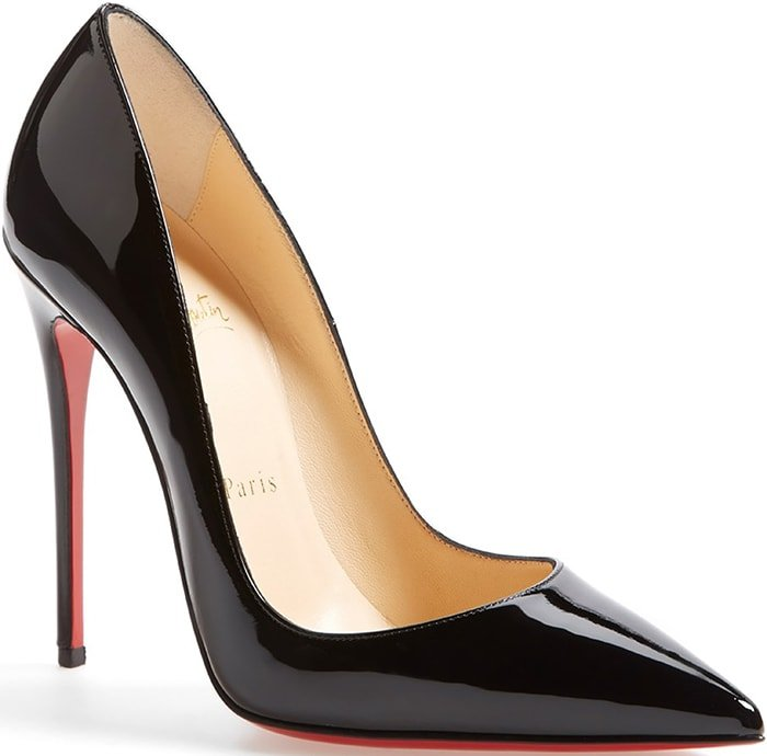 Black Patent Christian Louboutin So Kate Pumps