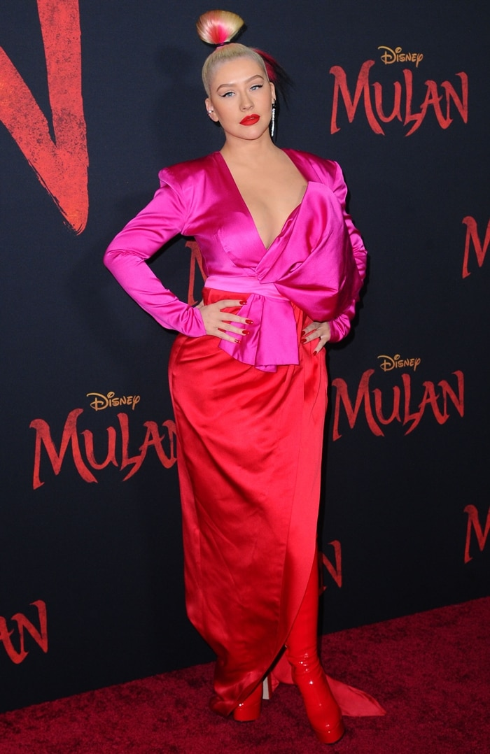 """Christina Aguilera recorded a new song titled """"Loyal Brave True"""" and re-recorded her classic song """"Reflection"""" for Disney's live-action film Mulan"""