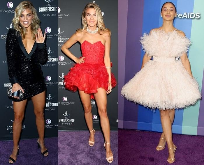 AnnaLynne McCord, Rachel McCord, and Cara Santana flaunt their legs in cocktail dresses