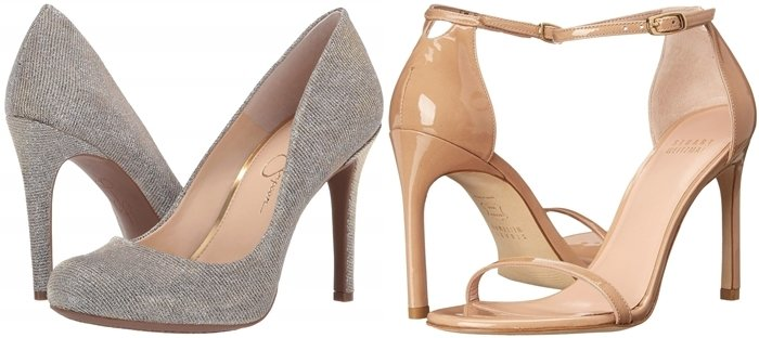 Cocktail heels from Jessica Simpson and Stuart Weitzman