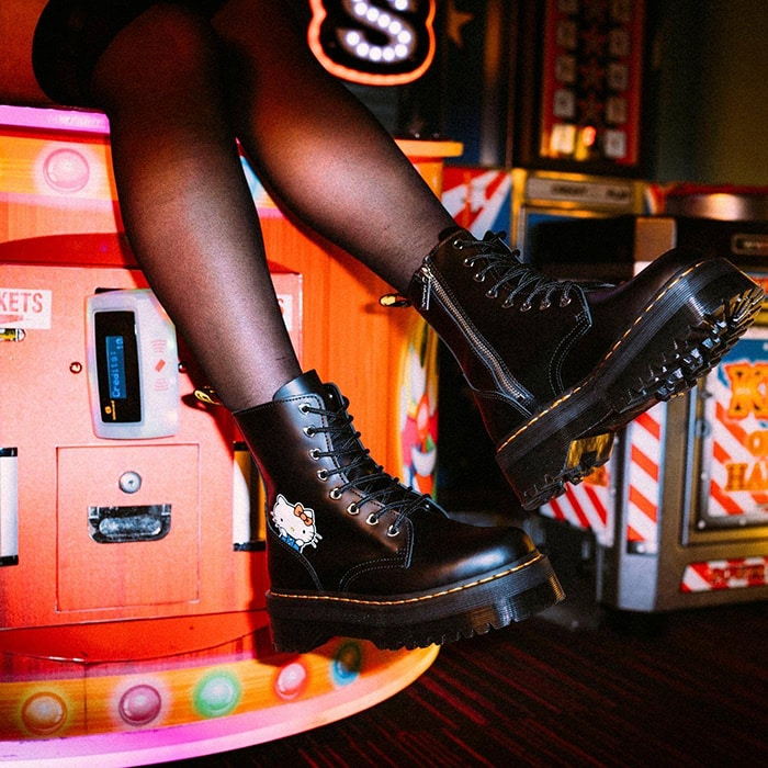 Dr. Martens x Hello Kitty Jadon 8-eye boots