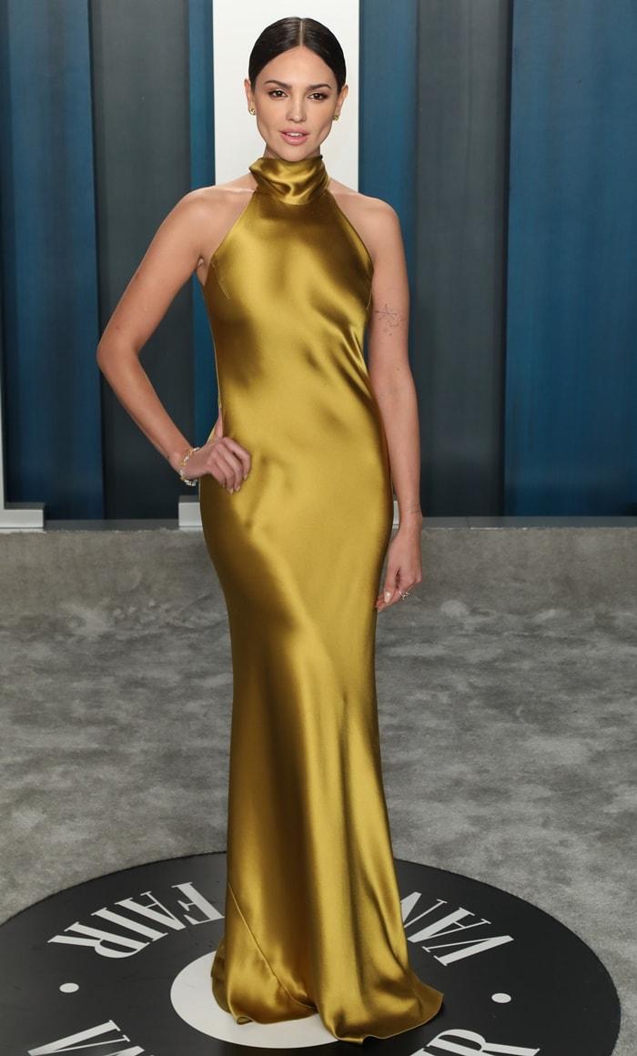 Eiza Gonzalez attends the 2020 Vanity Fair Oscar Party