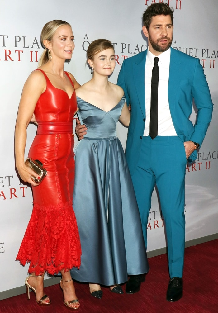 "Emily Blunt, Millicent Simmonds, and John Krasinski attend the world premiere of ""A Quiet Place Part II"""