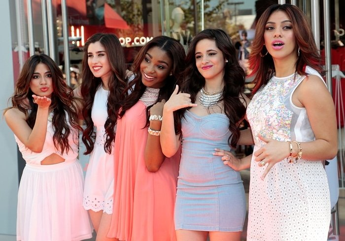 Fifth Harmony, often shortened to 5H, was an American girl group composed of Ally Brooke, Normani, Dinah Jane, Lauren Jauregui, and Camila Cabello