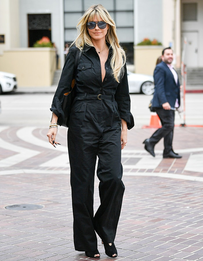 Heidi Klum arriving at America's Got Talent taping in Los Angeles on March 7, 2020