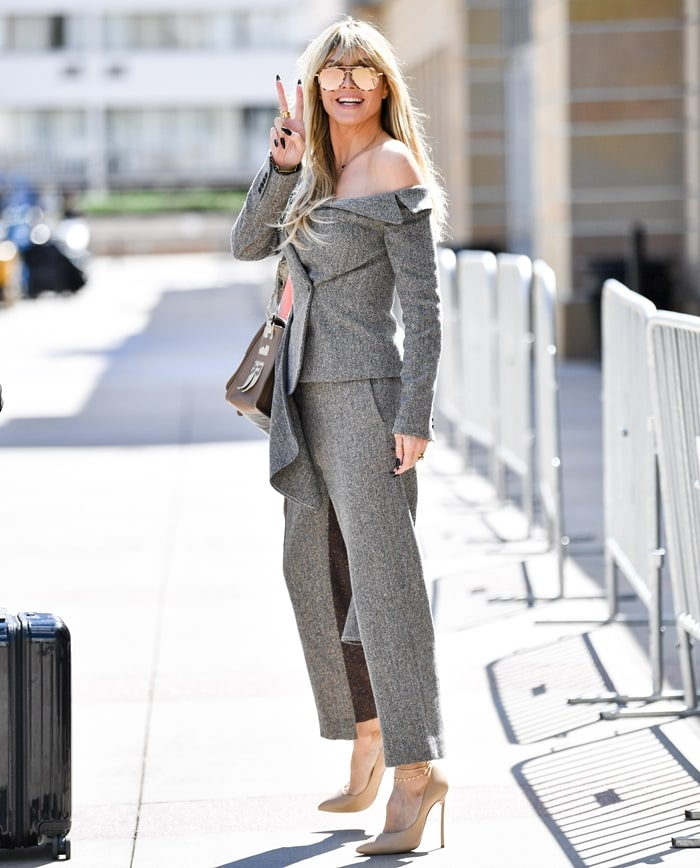 Heidi Klum out looking for attention on March 2, 2020, in Los Angeles