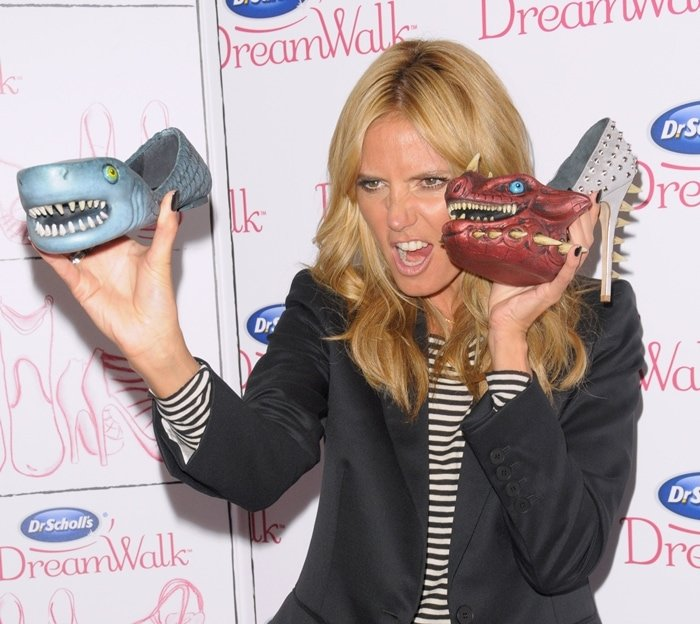 Heidi Klum promotes Dr. Scholl's soft DreamWalk insoles that instantly transform the shoes you want to wear into remarkably comfortable ones