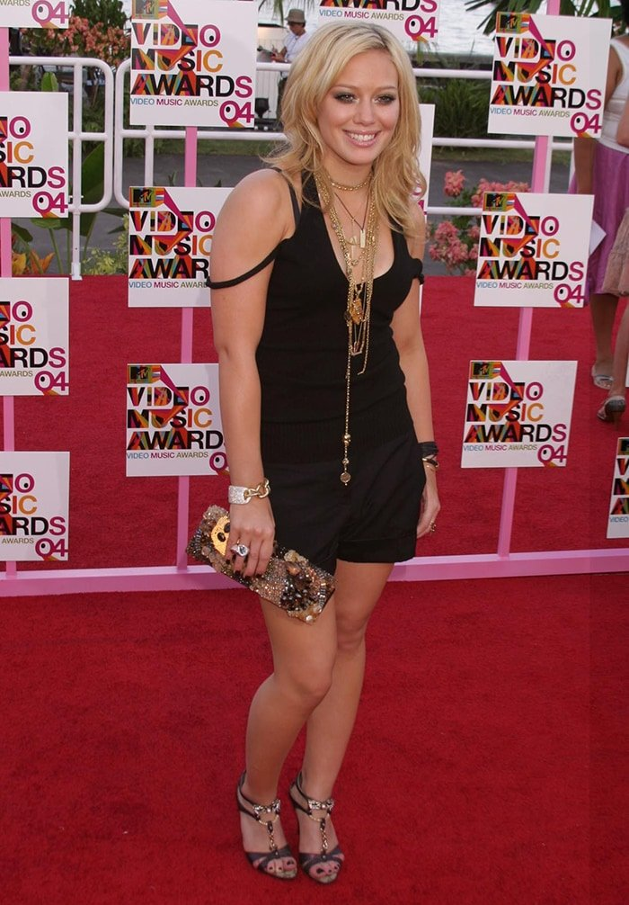 Hilary Duff at the 2004 MTV Video Music Awards in Miami, Florida on August 29, 2004