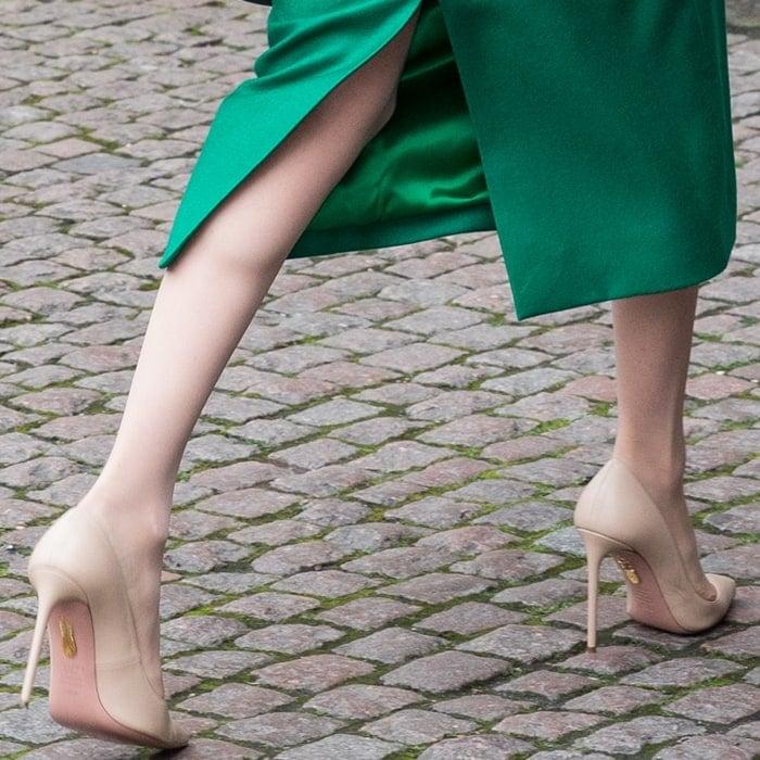 Meghan Markle's nude heels make her legs look longer