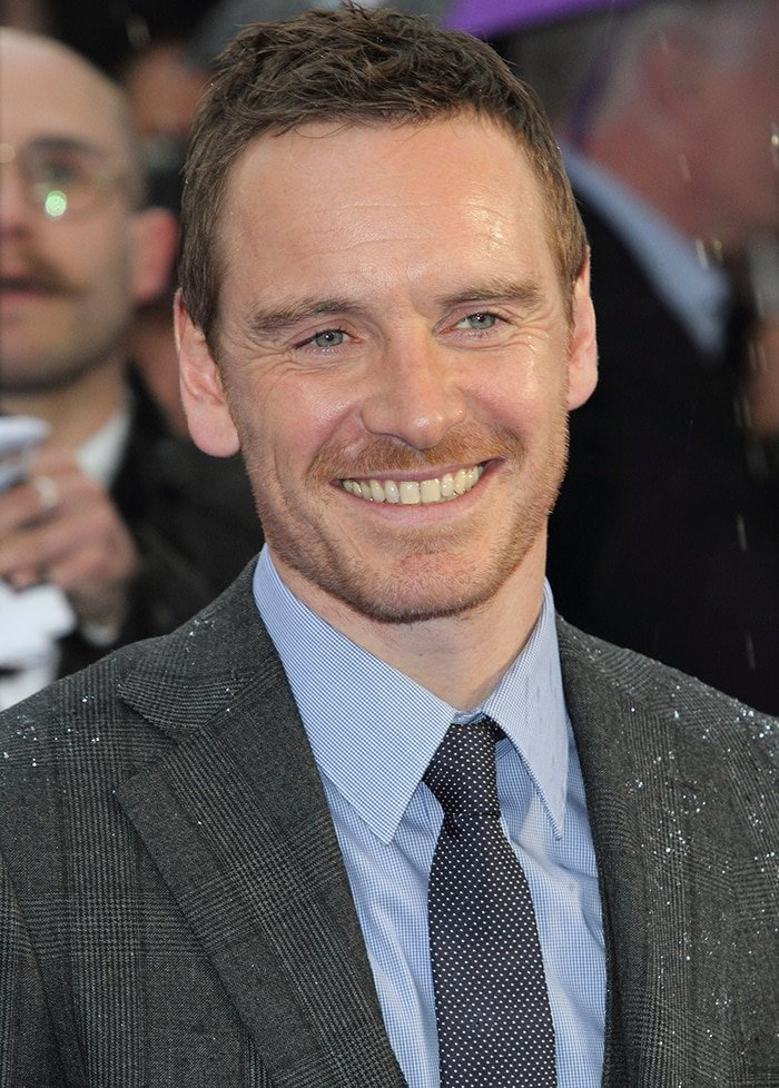 Michael Fassbender at the UK premiere of X Men 2 Days of Future Past on May 12, 2014