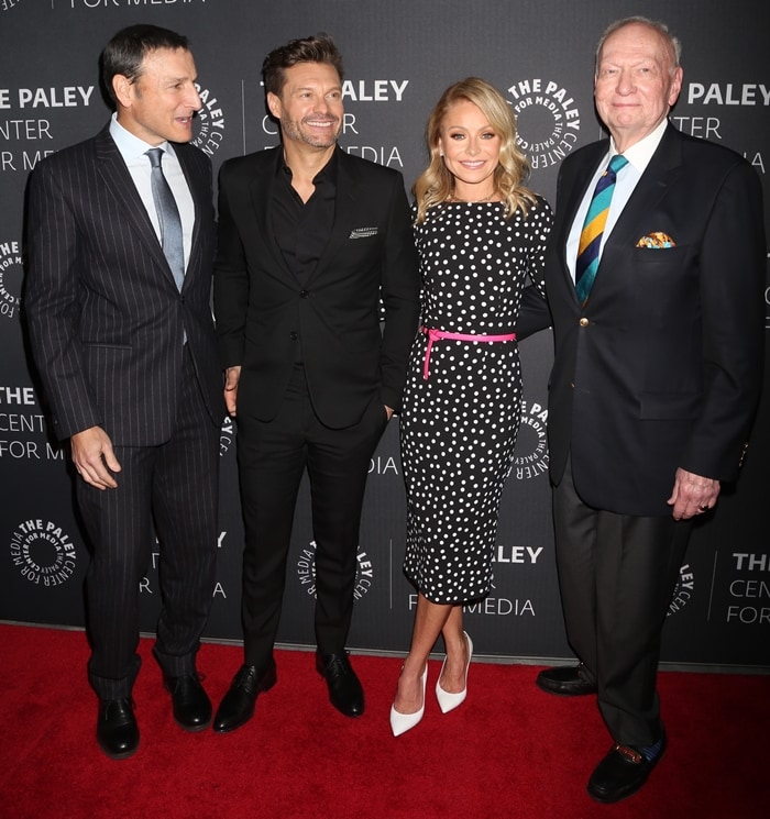"""Michael Gelman, Ryan Seacrest, Kelly Ripa, and Art Moore attend The Paley Center For Media Presents: An Evening with """"Live with Kelly and Ryan"""""""