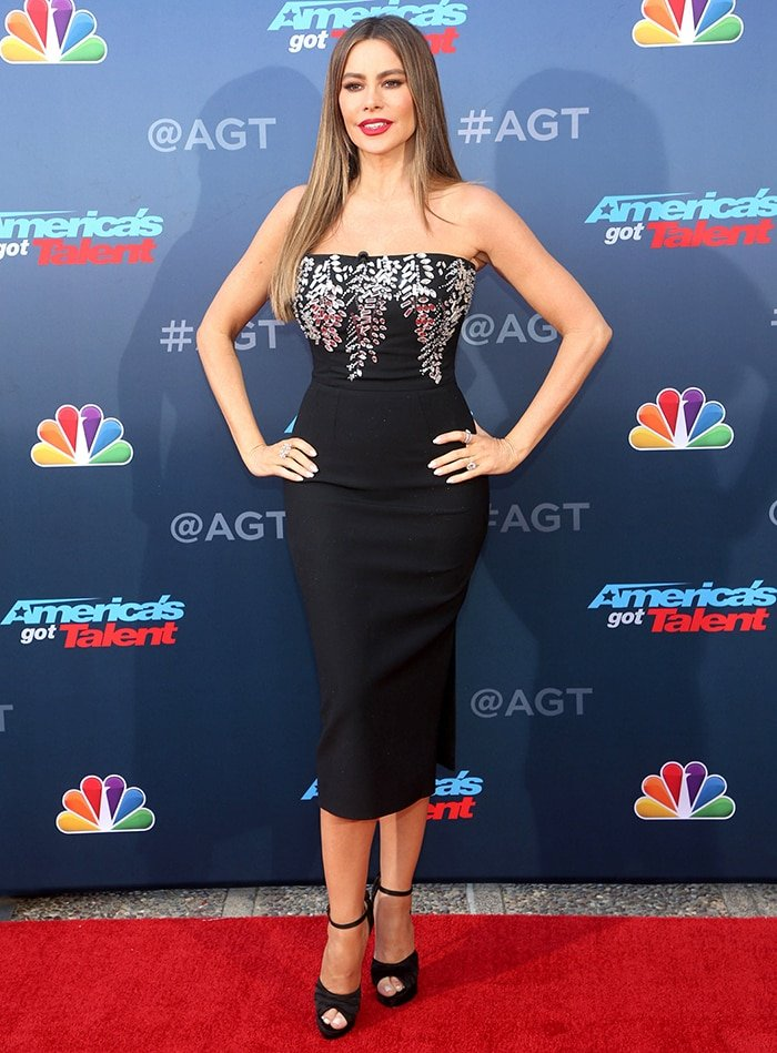 Sofia Vergara at the America's Got Talent Season 15 Kickoff in Pasadena, California on March 4, 2020