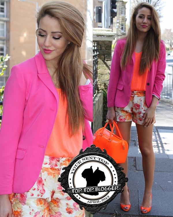 Tamara Kalinic wears a bright coral top