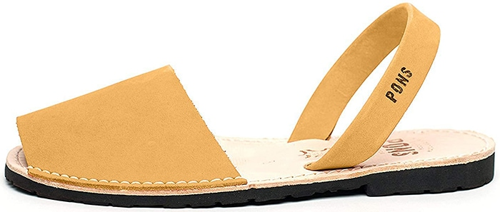 These classic sandals provide a great pop of color when wearing neutral outfits