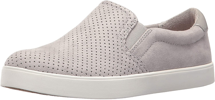 Gray Suede Dr. Scholl Madison Slip-Ons