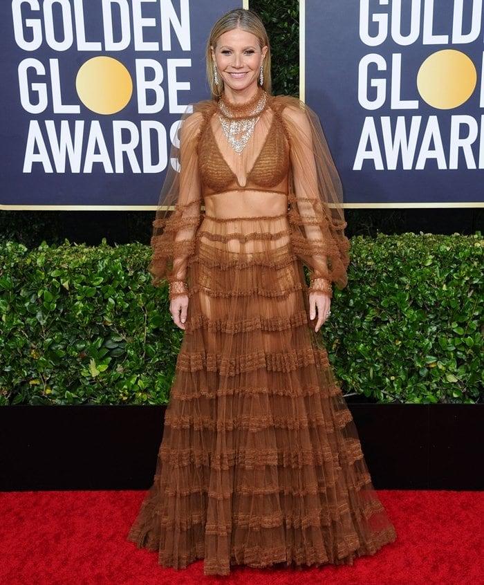 Gwyneth Paltrow in a Fendi Pre-Fall 2020 dress