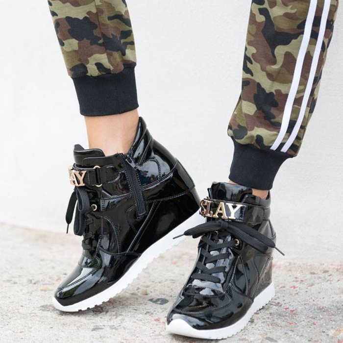 You're sure to slay all day in this street style-approved sneaker wedge