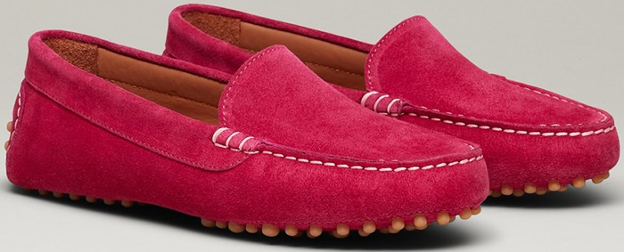 This suede loafer is made by hand at a tiny Tuscany workshop