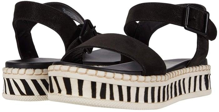 Embrace your wild side with the zebra-striped MIA Dillan platform sandals