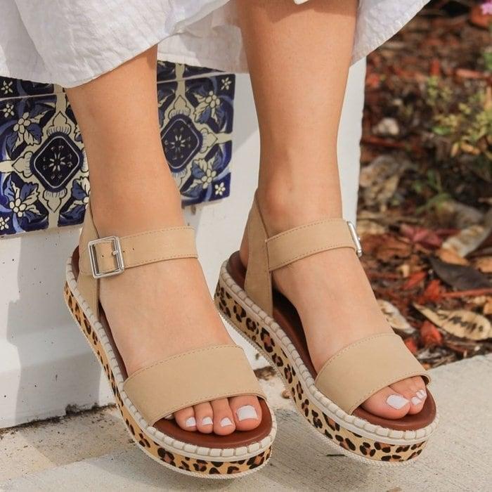 An animal-printed espadrille sandal that shows off your fierce fashion sense