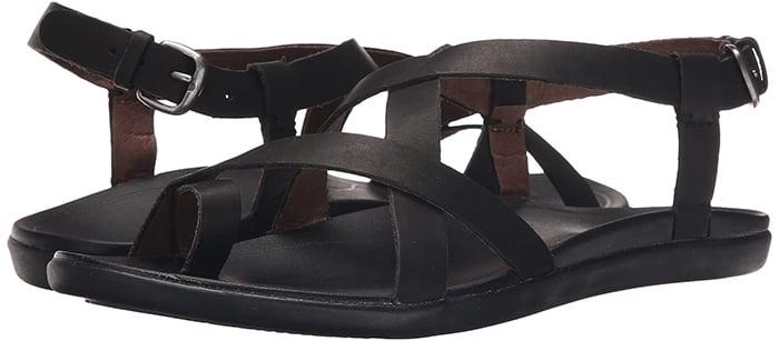 Black OluKai Upena Sandals
