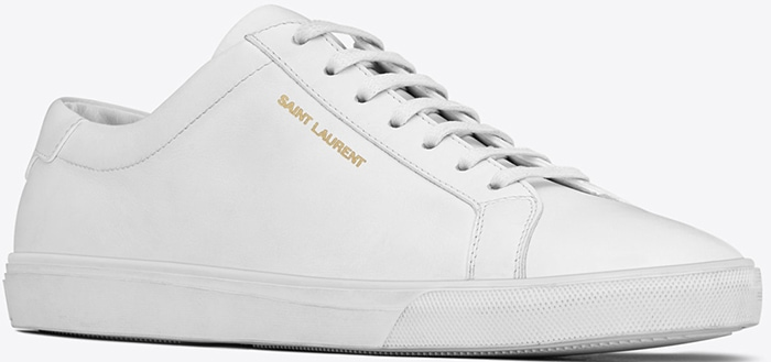 Saint Laurent 'Andy' Sneakers in White Leather