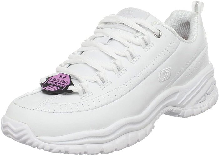 White Skechers Work 'Soft Stride-Softie' Shoes